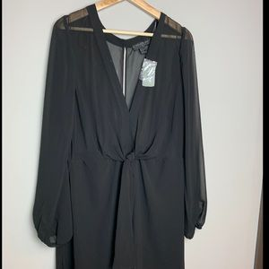 Forever 21 Plus size (1X) Black long sleeve dress